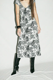 Maryam Nassir Zadeh Onyx Animal Mila Dress