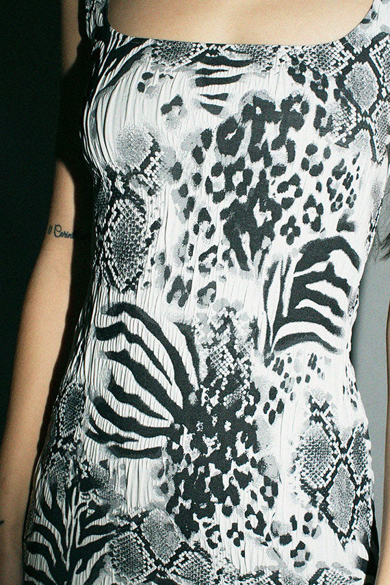 Maryam Nassir Zadeh Onyx Animal Salma Dress