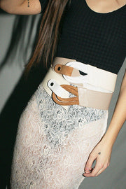Cream Adela Belt