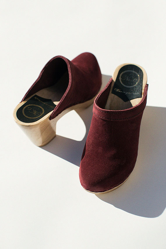 Burgundy Old School Clog