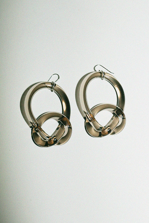 Smoke Knotted Loop Earrings