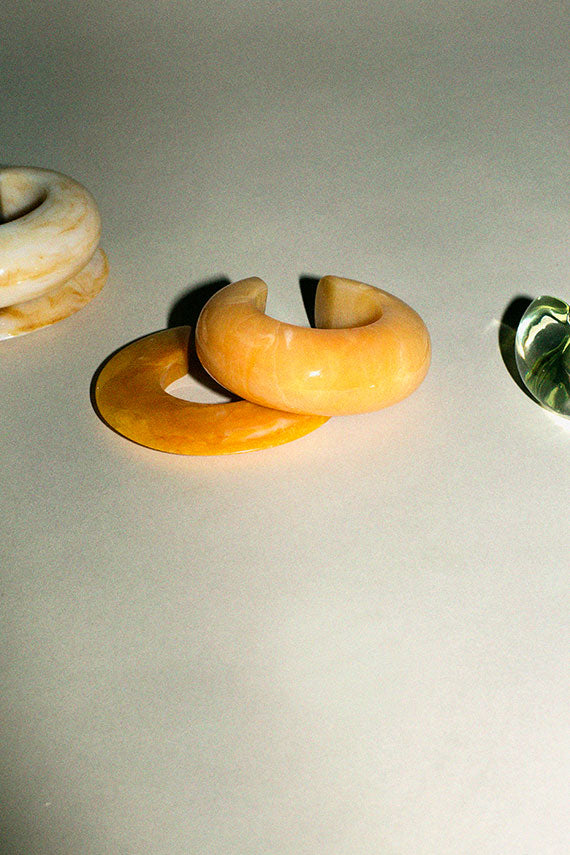 Marbled Apricot Arc Cuff