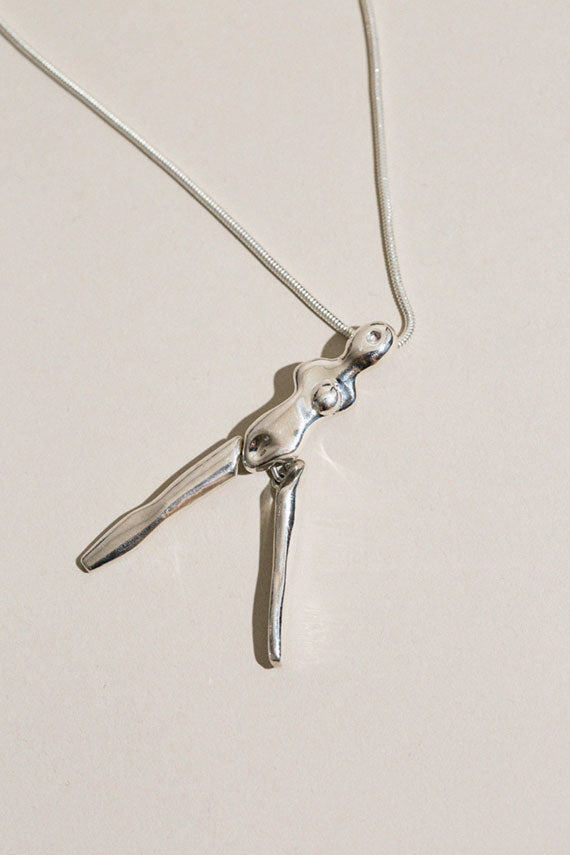Silver Lil Lady Necklace