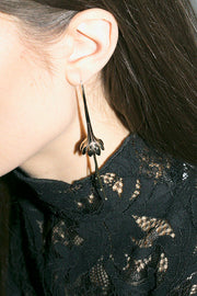 Brass Anemone Earrings