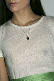 Large Silver Scarab Necklace