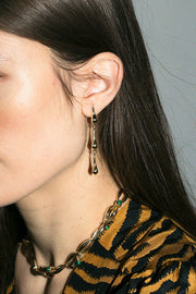 Brass Lor Triple Bump Earrings