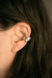 Silver Small Bubble Ear Cuff