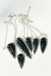 Obsidian Arrow Necklace