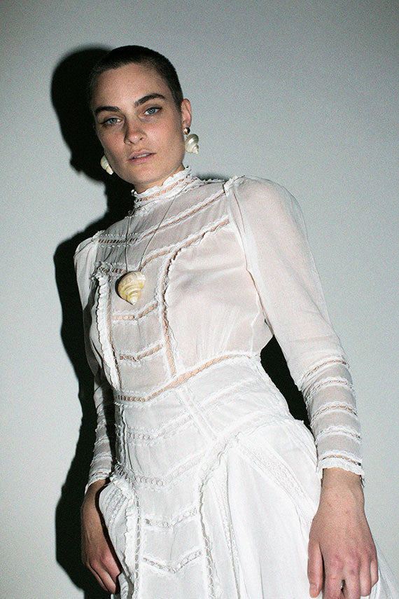 White Victorian Gown