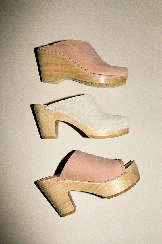 Chalk Suede Old School Clog
