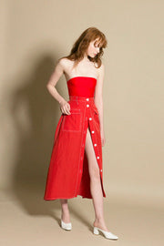Red Ines Skirt
