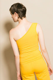 Yellow One Shoulder Top