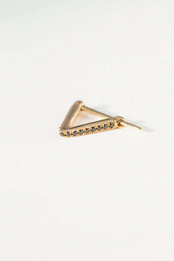 Diamond Pave Triangle Hoop