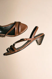 Brown Anya Heeled Sandal