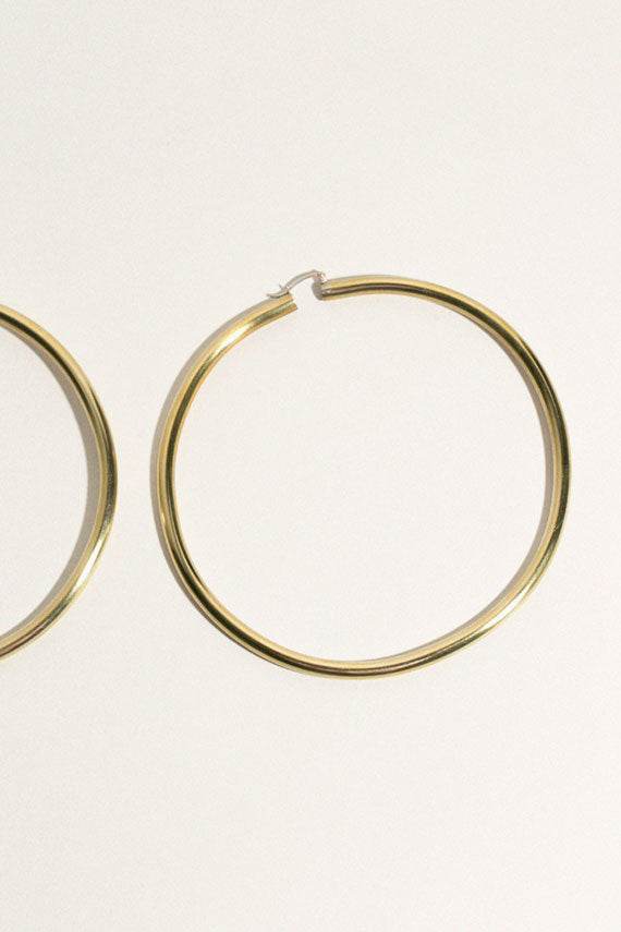 Brass Rollo Hoops