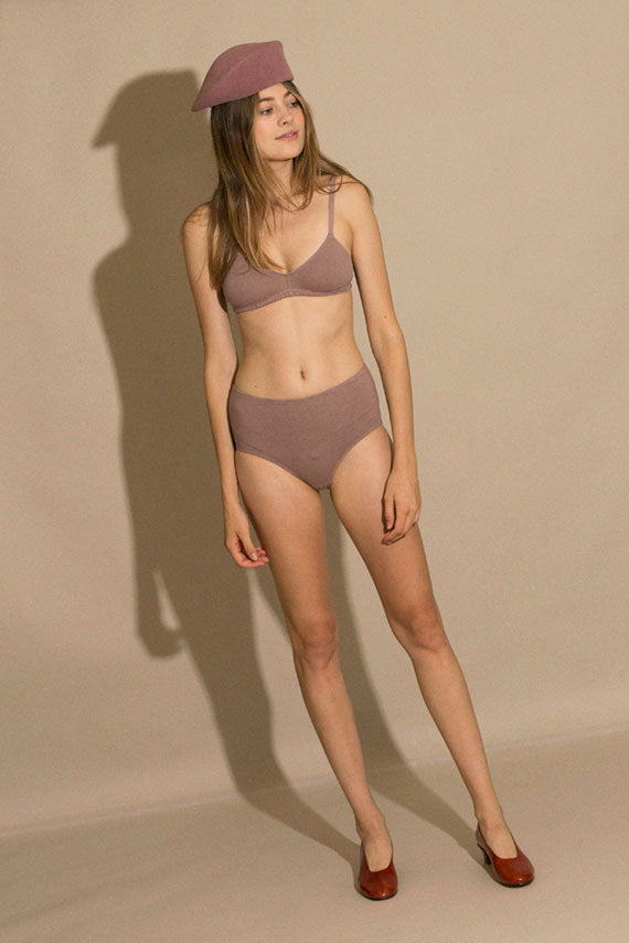 Mauve High Rise Brief