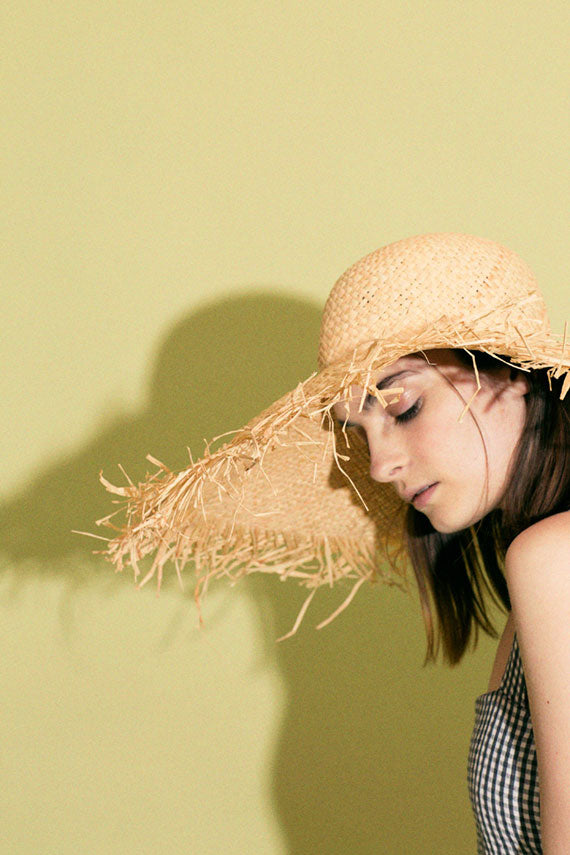 Natural Fringe Hat