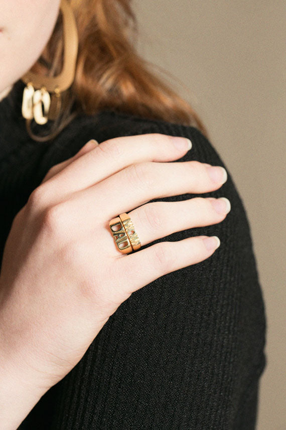Brass Dad Ring