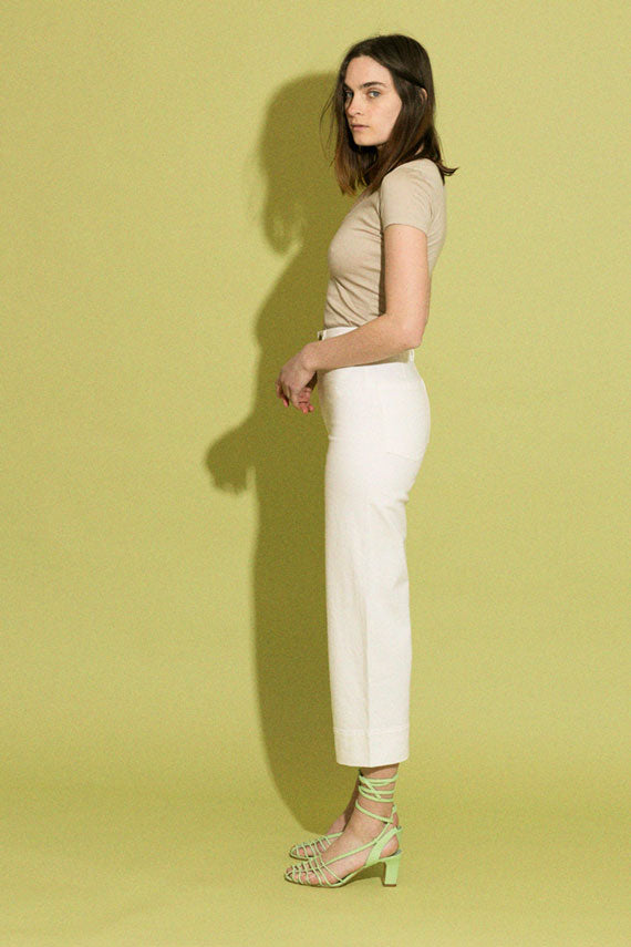 Cream Denim Merida Pant
