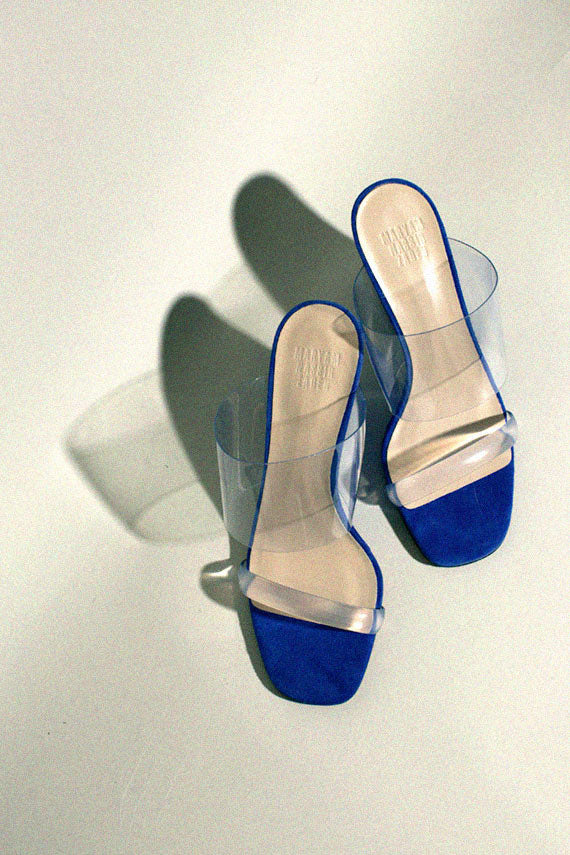 Lapis Suede Olympia Wedge