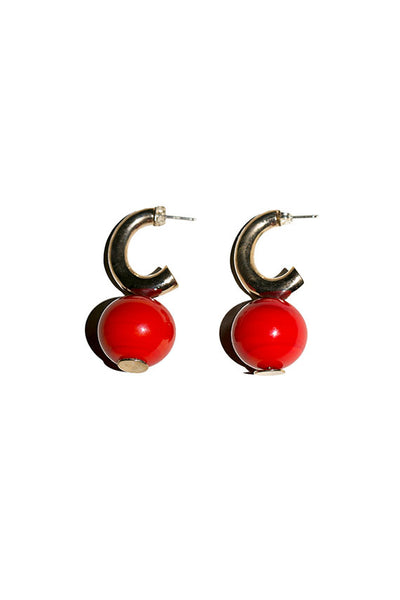 Cherry C-Curve Hoops