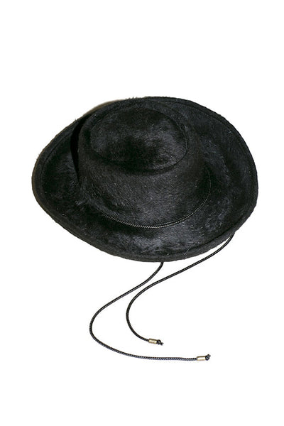 Onyx Long Hair Gambler Hat