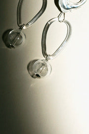 Clear Glass Bauble Hoops