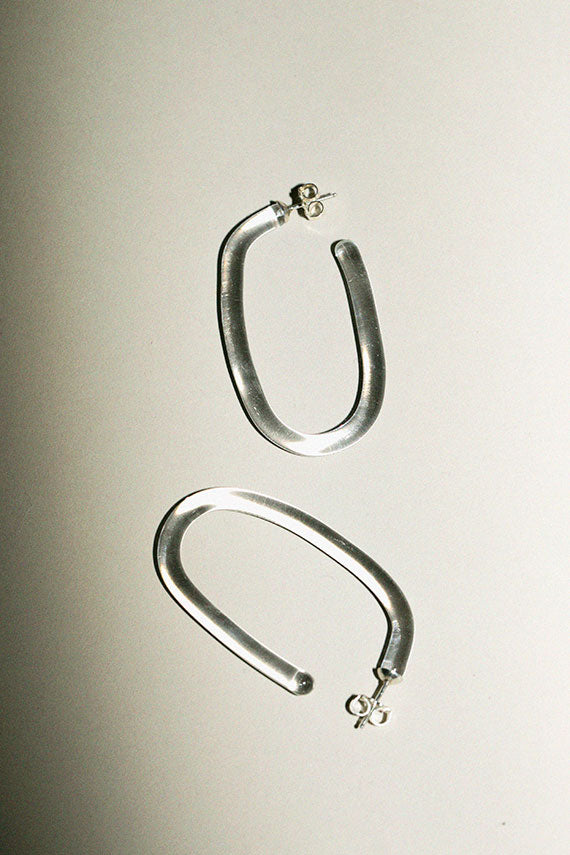 Large Glass Hoops