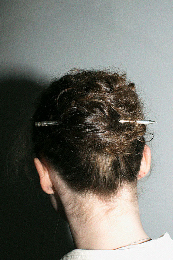 Silver Pencil Hair Stick