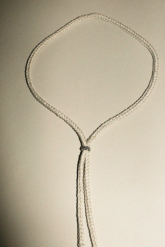 Silver Flax Slide Necklace
