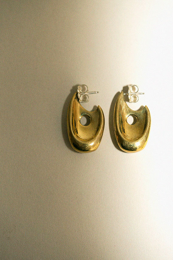 Brass Illusion Hoops