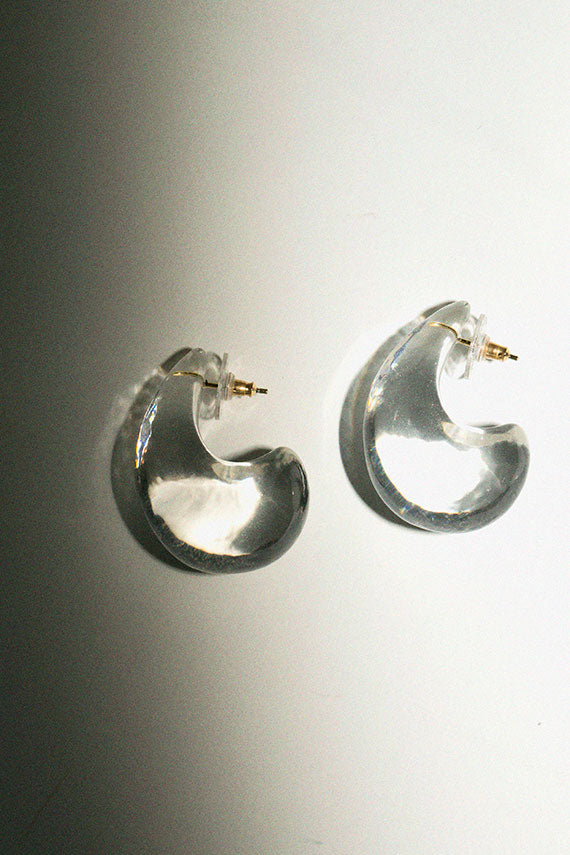 Clear Arp Earrings