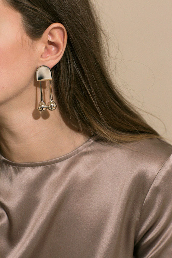 White Bronze Mara Earring