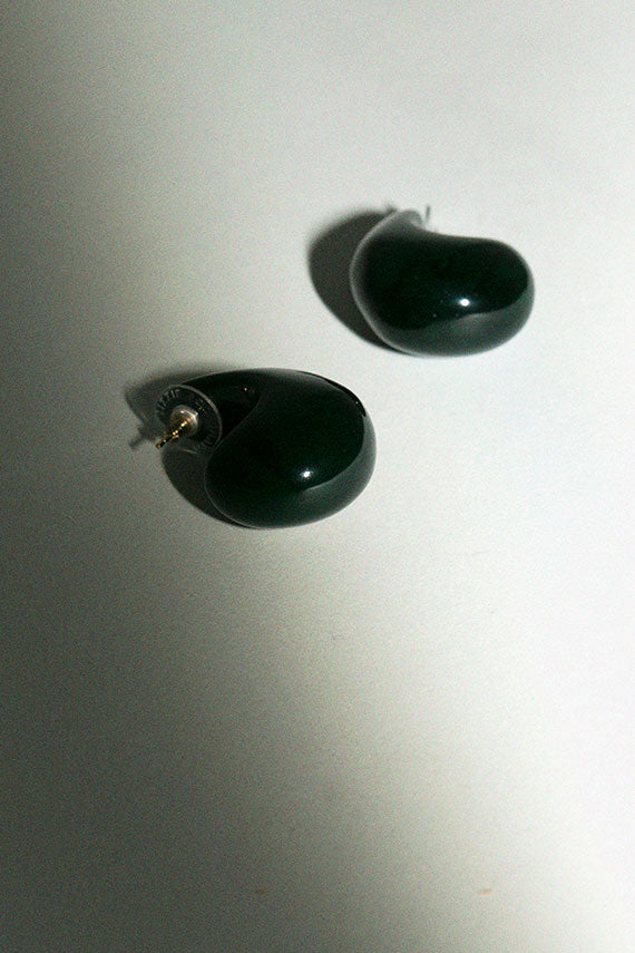 Dark Green Arp Earrings