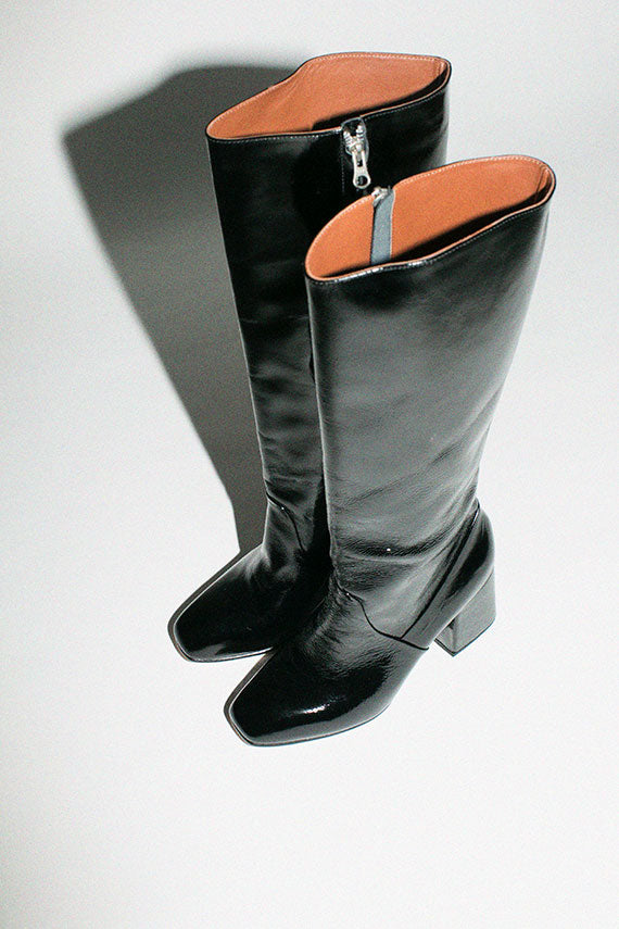 Ink Leather Sloane Knee High Boot