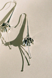 Silver Anemone Earrings