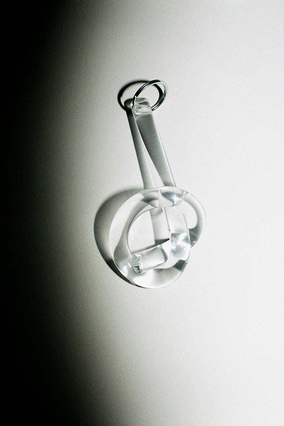 Clear Knot Keychain