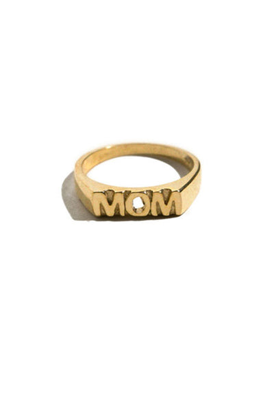 Brass Mom Ring