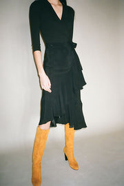 Black Hazel Twill Skirt