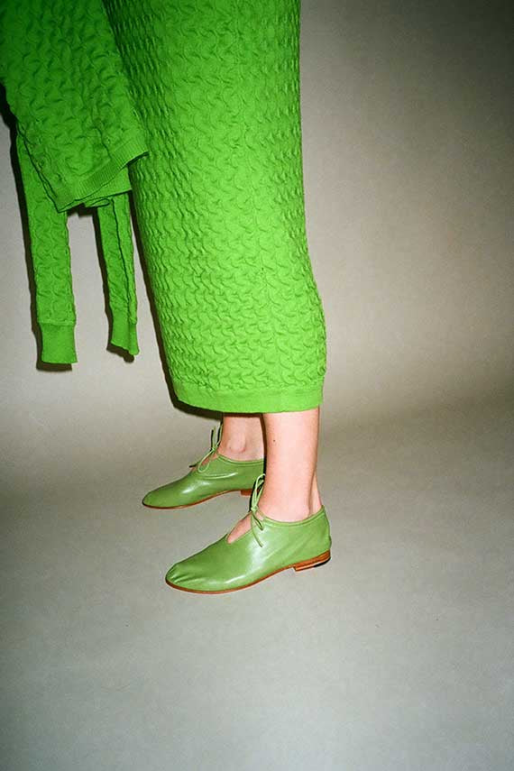 Apple Green Bootie