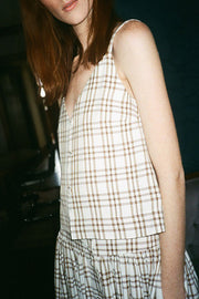 Curtain Plaid Sille Top