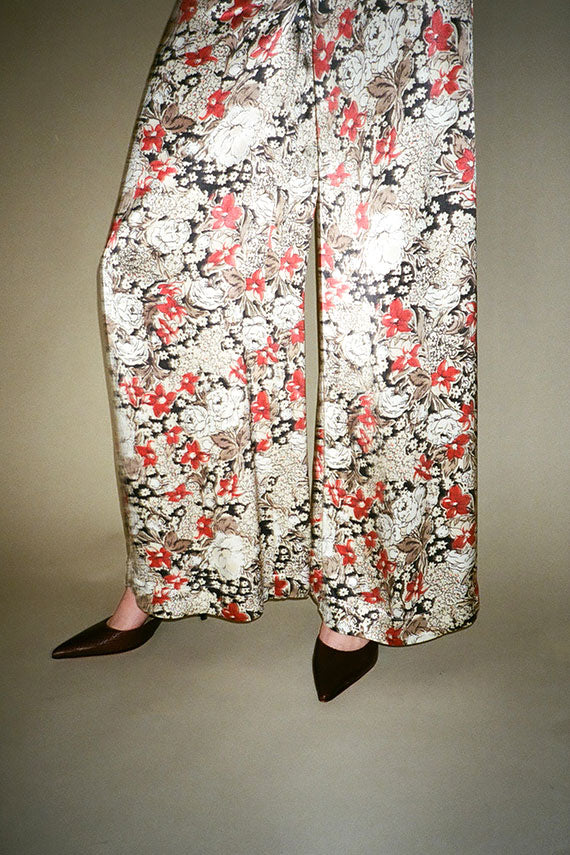 Irish Cream Floral Cameron Pants