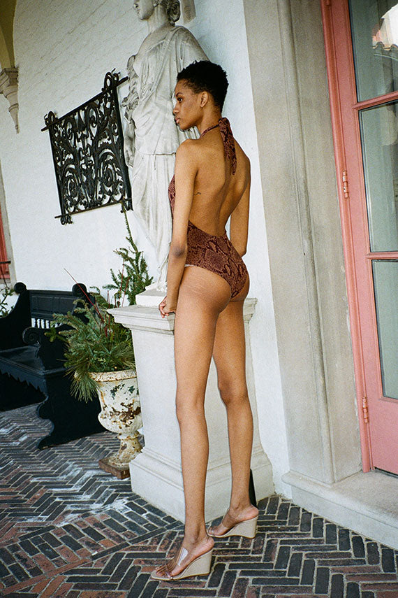 Brown Snake Dominique Swimsuit