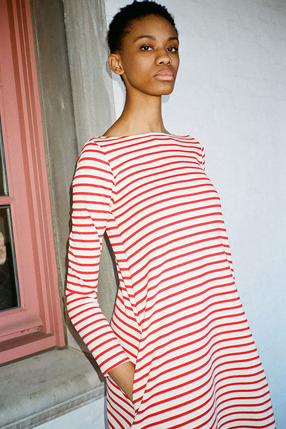 Red Stripe Leila Dress