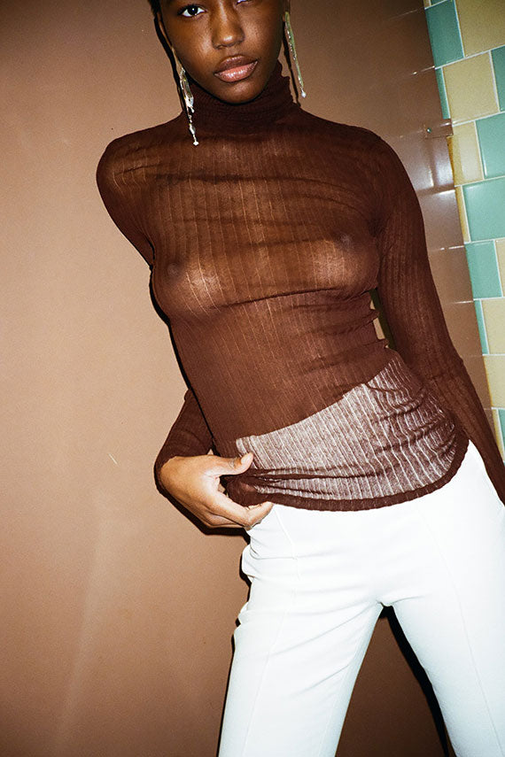 Chocolate Standard Turtleneck