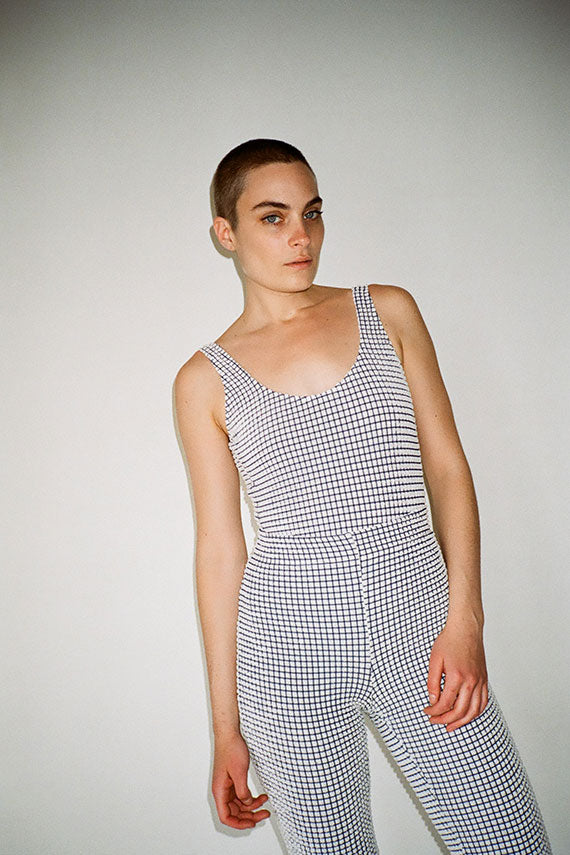 Gingham Embossed One Piece