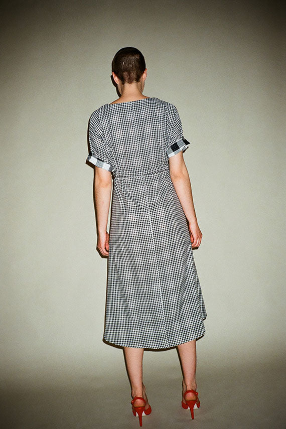 Black Check Market Dress