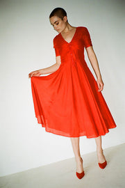 Red Paola Circle Dress
