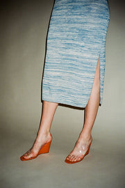 Blue Marle Column Dress