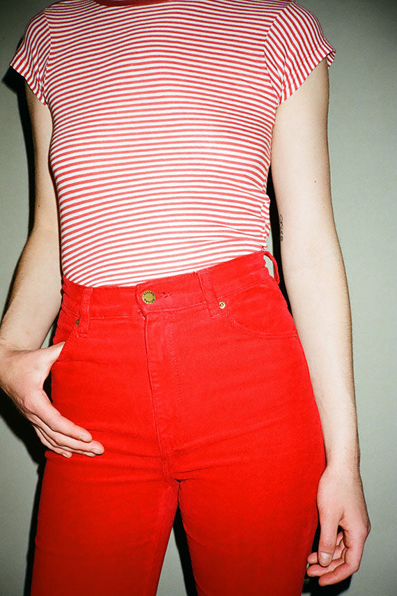 Red Sailor Stripe Tee
